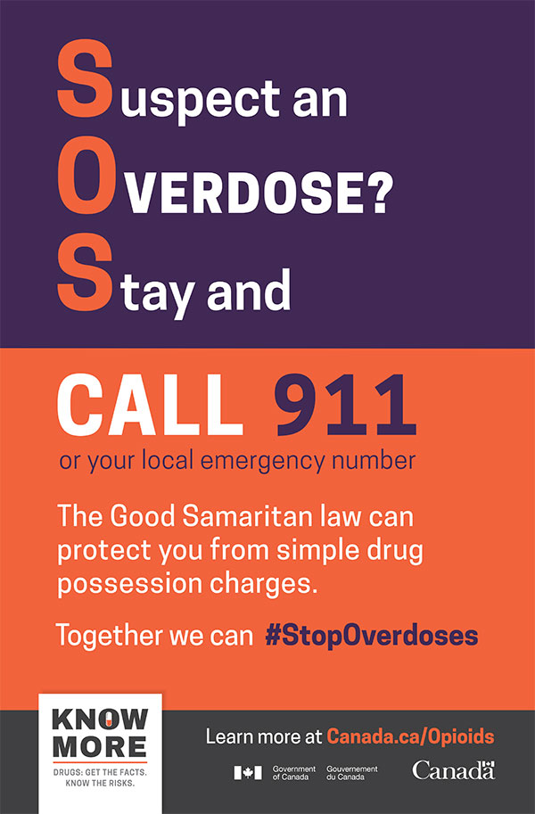 Good Samaritan Drug Overdose Act poster